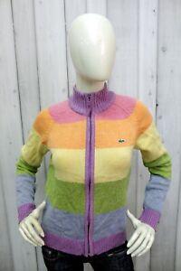 Maglione Lacoste Donna Taglia L / 42 Multicolore Lana Sweater Pullover Woman