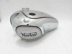 Fuel Petrol Gas Tank Silver & Chrome Painted Steel Norton Dominator Model 7