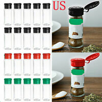 10Pcs Spice Salt Pepper Bottle Seasoning Container Jar+Sifter Lid Top Case 100ml