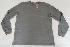 Patagonia Mens Large Gravel Heather Long Sleeved P-6 Logo Responsibili Tee Shirt