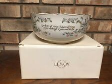 Lenox Love Is Bowl Usa Corinthians Verses Fine Bone China Porcelain W/ Box Gift!