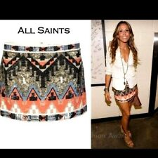 ALL SAINTS SEQUIN AZTEC  MINI SKIRT SIZE UK8, US4, EU 36, EXCELLENT CONDITION