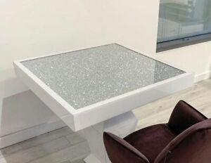 Diamond Crushed White Dining Table