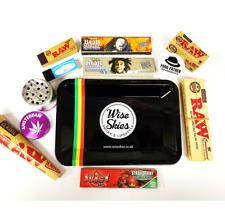 Wise Skies Smoking Gift Set - Bob Marley Rolling Papers, Raw Rolls, Grinder UK