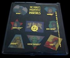 JLA The World's Mightiest Mortals 1997 DC Comics Superhero Pin Set of 8 in Case