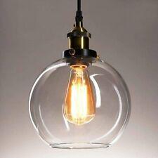 Frideko Vintage Ball Glass Ceiling Pendant Light -7.8 inch Industrial Style Glob