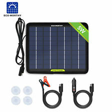 5W Solar Panel 12V Trickle Charge Battery Charger Kit Maintainer Boat Rv Car