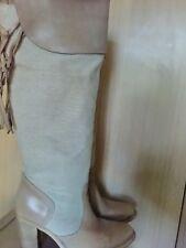 Berscka scarpe stivali estivi beige vera pelle donna 39