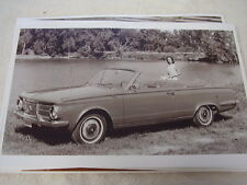 1964 PLYMOUTH VALIANT CONVERTIBLE  11 X 17  PHOTO  PICTURE