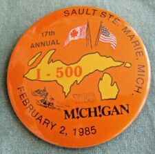 1985 I-500 Snowmobile Race Entry Button