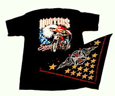 XL Hooters Uniform Shirt from ALL Harley Bike show Bandanna USA FLAG