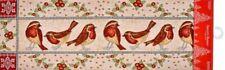 """Long Tapestry Table Runner, 13""""x72"""", WINTER, CHRISTMAS, BIRDS, HC"""