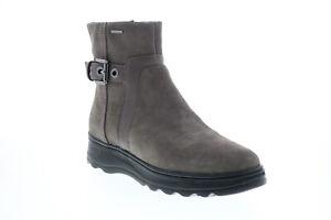 Geox Hosmos B Abx D84AUA02285C6004 Womens Gray Suede Casual Dress Boots