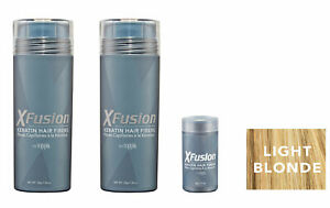 Xfusion Keratin Hair Fibers Two Pack - 2 x 28g /0.98 oz + FREE 3gr travel fibers