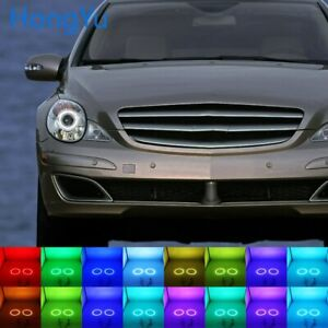 RGB Multi-Color LED Angel Eyes Halo Rings for Mercedes Benz R-Class W251 2006-10
