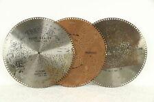 "Regina Music Box Group of 3 Antique 15 1/2"" Disks, Crocodile Isle & More #30756"