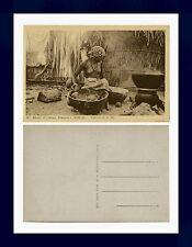 AFRIQUE OCCIDENTALE FRANÇAISE SÉNÉGAL PRÉPARATION DU MIL POSTCARD CIRCA 1920