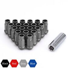 20pcs Extended Wheel Lug Nuts M12x1.25 + Key Cone Seat Tuner for Infiniti Subaru