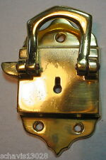 Bright Brass Drawer Door Lock R Cabinet Icebox Handle B key hole Pat June 29 91