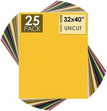 Pack of 25, 32x40 Uncut Mat Boards - White Core - Variety