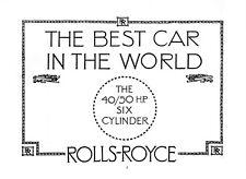 1913 ROLLS ROYCE AUTOMOBILE CATALOG BOOK
