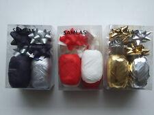 3 Boxen mit Geschenkbändern, Anhängern und Schleifen, verschiedene Farben, Ikea