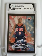 LEBRON JAMES Team USA Fleer USA 2004 GAI 9.5 GEM Mint Lakers