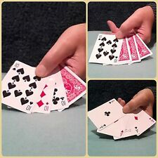Magic Card Trick for all - Four Cards Illusion. 10's to Aces.  (Watch Video)