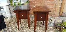 Pair Of Hotel Quality Bedroom Side Tables With Glass Top