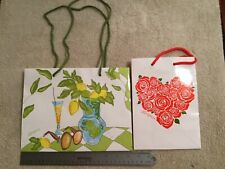BRIGHTON Paper Bags. Rope Handles. Lot Of TWO. Excellent Condition.