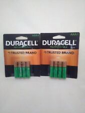 Brand New Duracell ® 850 mAh Rechargeable AAA Batteries. 8 Batteries  DX2400NiMh