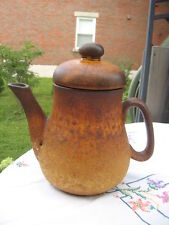 "LAURENTIAN POTTERY CANADA COFFEE POT 9"" IN TALL"