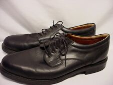 MEN'S SZ 14 M BOSTONIAN STRADA BLACK LEATHER OXFORD SHOES MADE IN ITALY EUC
