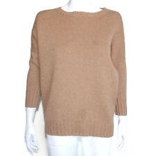 J. CREW COLLECTION 100% Cashmere Camel Crewneck Boyfriend Sweater sz M /3121