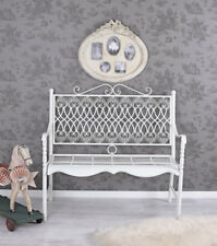 Bench White Iron Bench Metal Bench Garden Park Bank Country Style Balkonbank