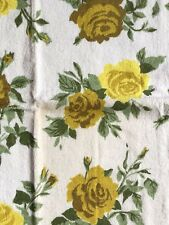 Vintage Estate Morgan-Jones Yellow Roses Towels Washcloths Antique New Shabby*