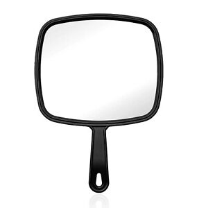Hand Held Mirror Handheld Salon Mirror Large Lady Women Makeup Beauty Cosmetic