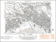 Cardiff southwest, old map Glamorgan 1948: 43SW repro Wales