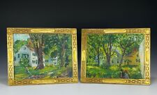 Pair of Antique Oil Painting by listed Artist H Vance Swope