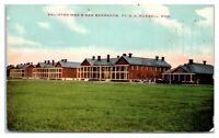 Early 1900s Enlisted Men's New Barracks, Fort D.A. Russell, WY Postcard