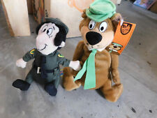 "Lot Hanna Barbera Collection Yogi Bear 7"" Ranger Smith Plush Toy Doll Campground"