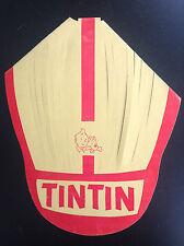RARISSIME ancienne casquette en papier Chèque Tintin Timbres TBE