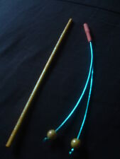 THUNDERCATS Yellow 'Shimmer Light' Hand Made Tygra Whip & Cheetara Staff Weapons