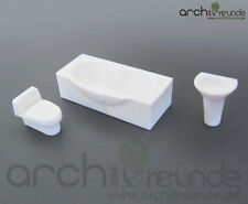 Set Of 3 Model Bathroom furniture, WCs for Modellbau1:50, railway O gauge