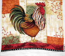 Kitchen Dish Towels W/ Crochet Tops - Rooster --Listing # 954
