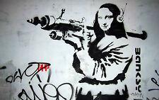 Australia A1  BANKSY Graffiti Street Art Wall Decor Print MONA BAZOOKA Painting