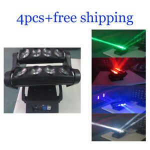 8*12W RGBW 4 in 1 Led Beam Moving Head Wash Spider DJ Light 4pcs Free Shipping