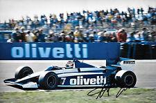 Nelson Piquet SIGNED 12x8 Brabham-BMW BT54 , German GP  Nurburgring 1985