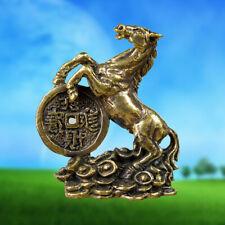 FENG SHUI Horse Hunting Money Lucky Casino Gamble Brass Amulet Wealth Talisman