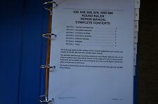 New Holland 638 648 678 688 Round Baler Service Workshop Manual